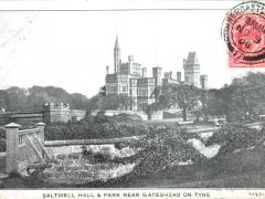 Saltwell Hall and Park near Gateshead on Tyne