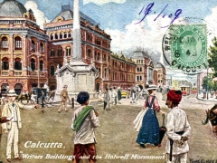 Calcutta Writers Buildings and the Holwell Monument