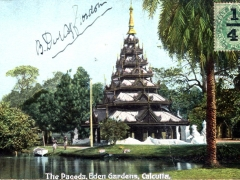 Calcutta the Pagoda Eden Gardens