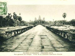 Angkor Vath Vue generale du temple