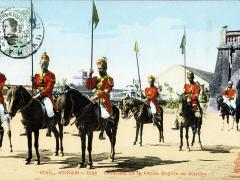 Annam Hue Cavaliers de la Garde Royale en marche