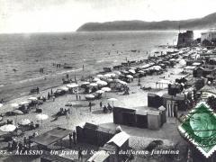 Alassio Un tratto di Spiaggia dall'arena finissima