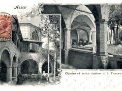 Assisi Chiostro ed antico cimitero di S Francesco