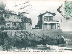 Balzi Rossi Grimaldi Ricordo del Restaurant des Grottes