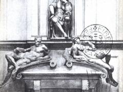 Firenze Cappelle Medicee Monumento a Lorenzo de' Medici Michelangiolo