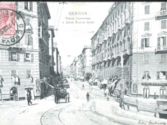 Genova Piazza Tommaseo e Corso Buenos Ayres