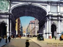 Genova Ponte Monumentale e Via XX Settembre