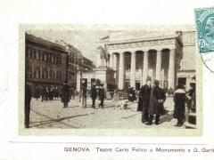 Genova Teatro Carlo Felice e Monumento a G Garibaldi