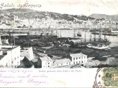 Genova Veduta generale della Citta e del Porto