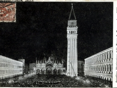 Grandiosa Illuminazione della Piazza S Marco Anno 1912