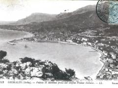 Grimaldi Veduta di Mentone presa dal confine Franco Italiano