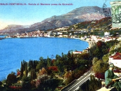 Grimaldi Ventigmiglia Veduta de Mentone presa da Grimaldi