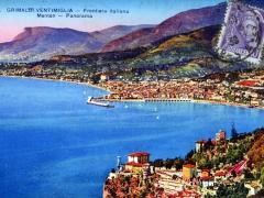 Grimaldi Ventimiglia Frontiera Italiana Menton Panorama