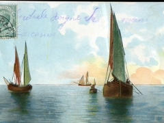Künstlerkarte Segelboote