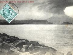 L' eruzione del Vesuvio vista da S Lucia