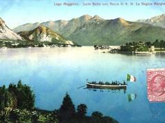 Lago Maggiore Isola Bella con Barca di S M La Regina Margherita