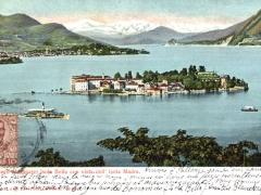 Lago Maggiore Isola Bella con vista dell' Isola Madre