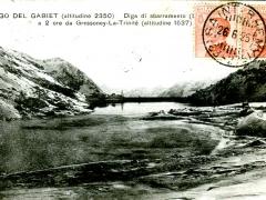 Lago del Gabiet Diga di sbarramento