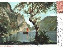 Lago di Lugano Rocco di Gandria
