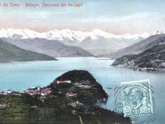Lago die Como Bellagio Panorama dei tre laghi