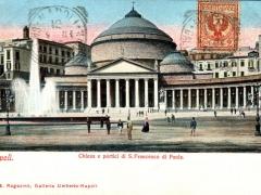 Napoli Chiesa e portici di S Francesco di Paola