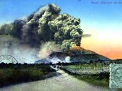 Napoli Eruzione del Vesuvio