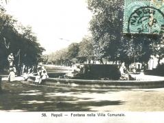 Napoli Fontana nella Villa Comunale