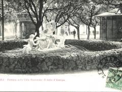 Napoli Fontana nella Villa Nazionale Il ratto d'Europa