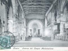 Rimini Interno del Tempio Malatestiano