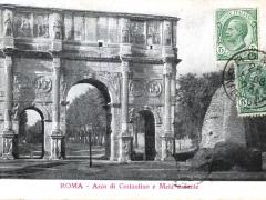Roma Arco di Costantino e Meta sudante