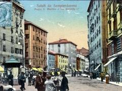 Sampierdarena Piazza S Martino e Via Umberto I