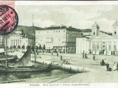 Trieste Riva Carciolti e chiesa Greco Orientale