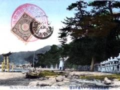 Big Torii from Matsubara at Itsukushima Aki