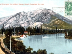 Banff Bow River and Vermillion Range