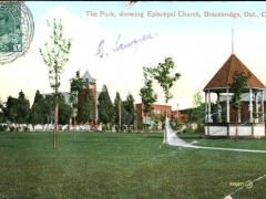 Bracebridge the Park showing Episcopal Church