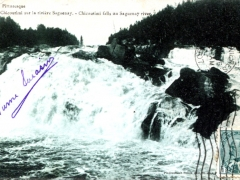 Chicoutimi falls on Saguenay river
