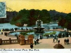 New York Bethesda Fountain Central Park kanadische Frankatur