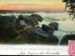 Niagara Falls Upper Candian Rapids from Third Sister Island