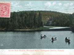 On the East Branch Montreal River Temagami District Ontatio