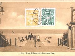 Libau vom Kurhausgarten hinab ans Meer