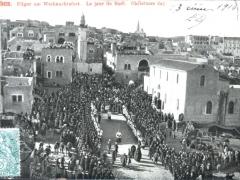 Bethlehem Pilger am Weihnachtsfest Le jour de Noel