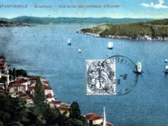 Constantinople Bosphore Vue prise des chateaux d'Europe