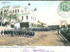 Constantinople Parade apres le Selamlik Yildiz