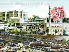 Constantinople Vildiz Kosque et la revue militaire de vendredi