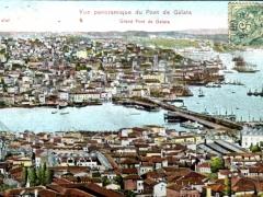 Constantinople Vue panoramique du Pont de Galata