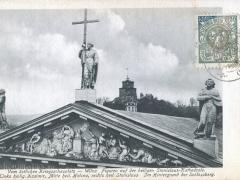 Wilna Figuren auf der heiligen Stanislaus Kathedrale