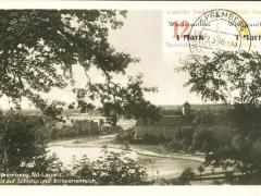Spremberg Blick aus Schloss und Schwanenteich