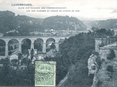 Blick auf Clausen und Eisenbahnviadukt