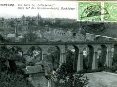 Blick auf das Nordbahnviadukt Bockfelsen