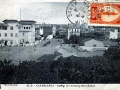 Casablanca Entree de l'Avenue Mers Sultan